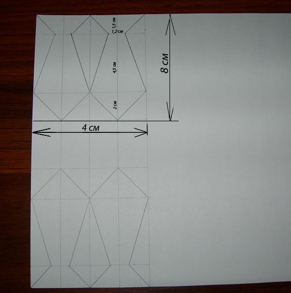 Схема галстука для мужской открытки