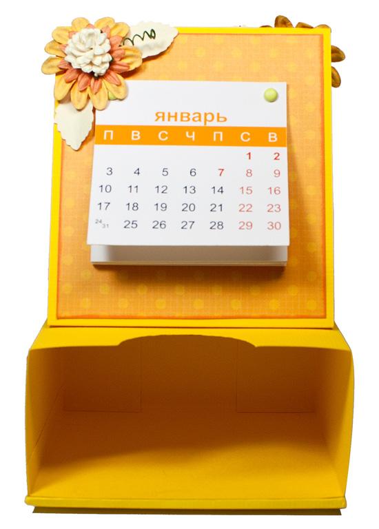 Календарь 2011 с подставкой под стикеры скрапбукинг