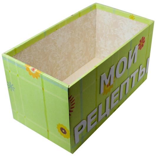Коробка для записи рецептов своими руками